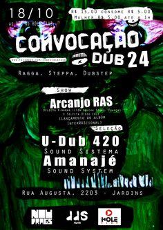 Flyer e Tipografia para a festa Convocação DUB
