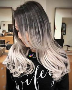 This icy blonde balayage look will make heads turn wherever you go! Side Bangs With Long Hair, Long Curly Hair, Curly Hair Styles, Icy Blonde, Blonde Balayage, New Haircuts, Hairstyles Haircuts, Big Curls, Beautiful Hair Color
