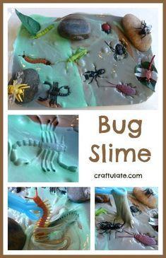 Bug Slime - a fun ooey gooey sensory experience!