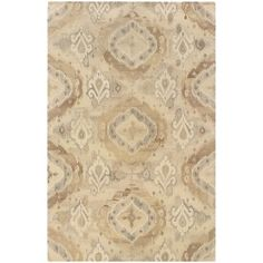 "Union Rustic Mireille Hand-Woven Modern Beige Area Rug Rug Size: 3'6"" x 5'6"""