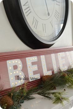 We thought this was a cute idea for a vinyl lettering stencil.