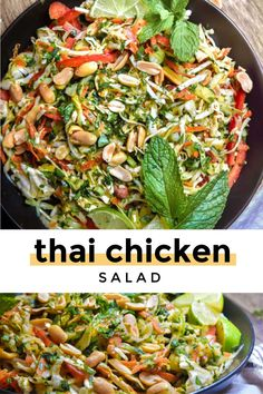 Mexican Chicken Salads, Low Carb Chicken Salad, Thai Chicken Salad, Chicken Salad Recipes, Healthy Crockpot Recipes, Vegetarian Recipes, Cooking Recipes, Grill Recipes, Budget Recipes