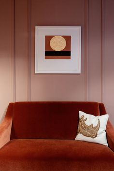 Patrick Scott print with 23.5 carat gold leaf.  With thanks to The Design Seeker and Ruth Maria Photography.  www.stoneyroadpress.com Sofa, Couch, Carat Gold, Gold Leaf, Fine Art Prints, Photography, Furniture, Design, Home Decor