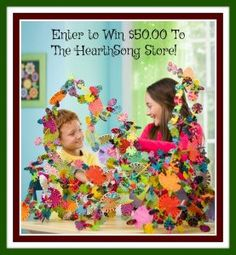 These #Holidays, enter to #win $50 #GiftCertificate to #HearthSong #pretendplay #toys #kids #mom #craft #HolidayGiftGuide #2016HGG #ad #crafts #coding #giveaway #stem @born2impress