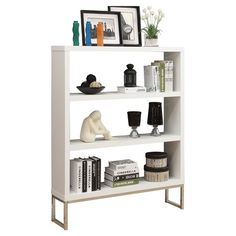 Whether stacked with favorite novels in your reading nook or displaying objects d'art and vintage finds in the den, this clean-lined bookcase adds a touch of...