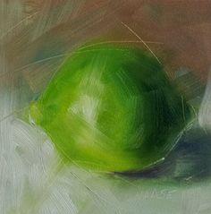 """Lime"" - Original Fine Art for Sale - � Cindy Haase"