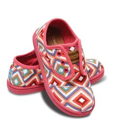 Love this TOMS Pink Village Geometric Classics Cordones - Tiny by TOMS on #zulily! #zulilyfinds