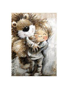 Painting - Cuddles by Rache Gerber Canvas Prints, Framed Prints, Various Artists, Cuddles, Art Gallery, Africa, Teddy Bear, Tapestry, Posters