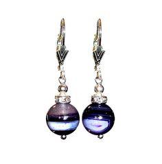 Agate Geode Purple 10mm Round 925 Sterling Silver por ArtGemStones