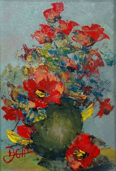 Vas cu flori tablou pictat pictor daniela gal Painting, Art, Art Background, Painting Art, Kunst, Paintings, Performing Arts, Painted Canvas, Drawings