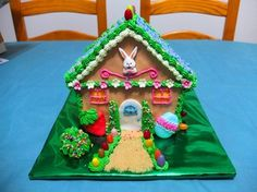 Gingerbread house inspired cake =)