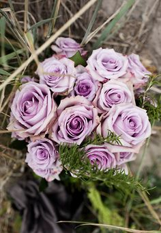 I want lilacs for my bouquet, but if that can't happen I think purple dyed roses are beautiful too