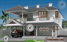 ideas for house design exterior indian small Simple House Exterior Design, House Front Design, Small House Design, Latest House Designs, New Home Designs, Home Design Plans, Indian Home Design, Kerala House Design, Two Story House Design