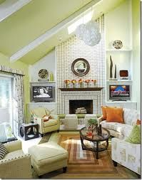 1000 images about fireplace ideas on pinterest - How to decorate high walls with cathedral ceiling ...