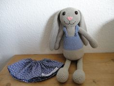 hæklet kanin - Den lilla elefant