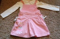 5T Yo Gabba Gabba Foofa Overall Skirt Jumper   eBay