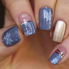 Nageldesign & Nailart Special nail art designs that stimulate your winter mood # Xmas Nails, Holiday Nails, Christmas Nails, Valentine Nails, Christmas Nail Art Designs, Winter Nail Designs, Nail Tip Designs, Christmas Design, Nails Design
