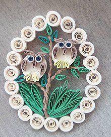 Dekorácie - Veľkonočné vajíčko - múdre sovy - 6417571_