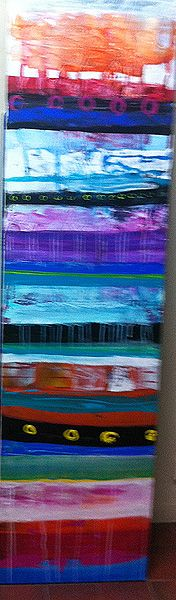 Colours of Africa  Acrylic on canvas  46x168cm  $980