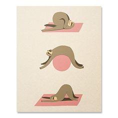 Sloth Yoga Print