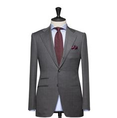 Tailored 2-Piece Suit – Fabric 4549 Plain Grey Cloth weight: 260g Composition: 100% Wool Super 110's