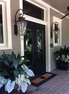 Italianate Gas Lights for front porch.
