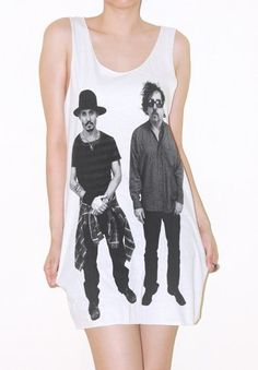 Johnny Depp And Tim Burton Movie Shirt Tank Top Indie Rock Tee Size M