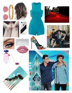 """""""TCAS with them!"""" by haleymbrown on Polyvore featuring Nicole Miller, Ultimate, Jimmy Choo, Ray-Ban, Cartier, Lime Crime, Victoria's Secret, Kendra Scott, WALL and PBteen"""