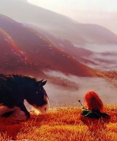 The scenary in Brave is amazing. The brave, Merida&Angus Walt Disney, Disney Magic, Disney Art, Merida Disney, Disney Dream, Disney Love, Disney And Dreamworks, Disney Pixar, Rebelle Disney