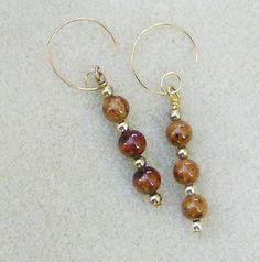 Red Jasper Earrings  Handmade with Designer by JewelryArtistry, $25.00