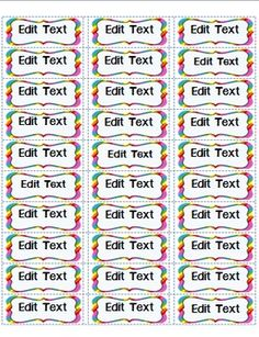 Editable labels to organize classroom supplies & manipulatives. This product includes 2 sizes and 3 colors. $