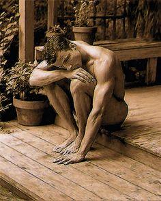 Troy Caperton painting of Austin, Tx model
