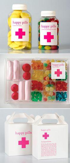¿Y que es Happy pills? Es una tienda ubicada en Barcelona, España. Todo empezó con abrir una tienda de dulces y caramelos, pero dirigido a un público diferente, y de qué manera lo hicieron!!! genial!