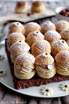 Bakery Recipes, Dessert Recipes, Cooking Recipes, Profiteroles, Eclairs, Creme Puff, Paris Brest, Italian Pastries, Puff Recipe
