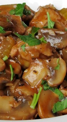 Chicken Mushroom Stew ~ Seriously, this stew is the real deal... It's healthy, easy, light but hearty at the same time! Oh yes, it's possible!