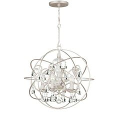 Crystorama Lighting Group 9026-OS Solaris 5 Light Globe Chandelier with Hand-Cut Crystals, Olde Silver / Clear Hand Cut Crystorama Lighting Group,http://www.amazon.com/dp/B008N03CFY/ref=cm_sw_r_pi_dp_htxatb1WXFEX32X7