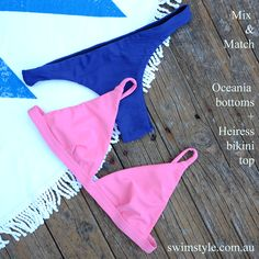 Heiress top & Oceania bottoms sewn from the Heiress bikini pattern & Oceania bikini pattern women.