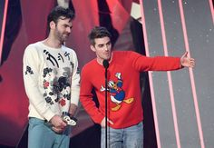 Alex Pall Photos Photos - Recording artists Andrew Taggart (L) and Alex Pall of music group The Chainsmokers accept Best New Artist onstage at the 2017 iHeartRadio Music Awards which broadcast live on Turner's TBS, TNT, and truTV at The Forum on March 5, 2017 in Inglewood, California. - iHeartRadio Music Awards - Show
