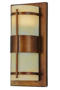 6 Inch W Manitowac Led Wall Sconce - 6 Inch W Manitowac Led Wall Sconce Theme: LODGE CONTEMPORARY ACRYLIC Product Family: Manitowac Product Type: WALL SCONCES Product Application: LED -- ONE LIGHT Color: VINTAGE COPPER/HONEY ONYX ACRY Bulb Type: GU10 Bulb Quantity: 2 Bulb Wattage: 4 Product Dimensions: 12.5H x 6W x 4.5DPackage Dimensions: NABoxed Weight: 2.5 lbsDim Weight: 24 lbsOversized Shipping Reference: NAIMPORTANT NOTE: Every Meyda Tiffany item is a unique handcrafted work of art…