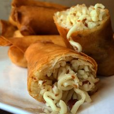 Ramen egg rolls are real, and there's bacon inside.