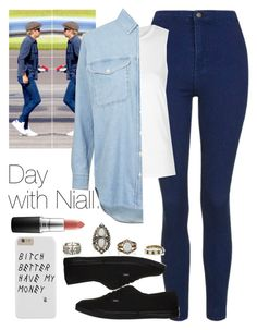 """Day with Niall."" by welove1 ❤ liked on Polyvore featuring Topshop, Vans, MAC Cosmetics, women's clothing, women, female, woman, misses and juniors"