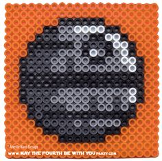 Death Star perler cross stitch