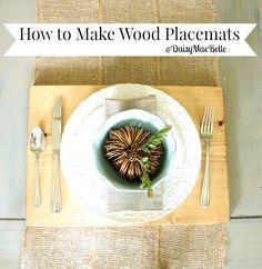 DIY Wood Placemats