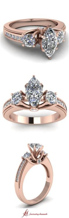 Luxury rose gold engagement ring vintage for your perfect wedding (136)