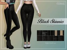 Sims 4 CC's - The Best: Black Skinnies by Trillyke