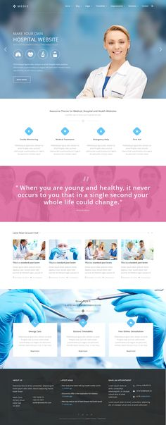 #website #design #responsive #Medic - Medical, Health or Hospital website HTML Theme ->>