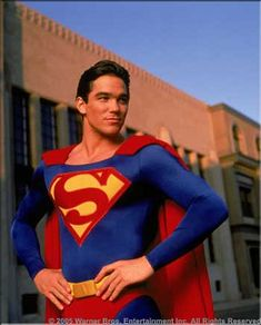 Dean Cain Autographed The New Adventures of Superman Classic on Set Photo Superman Photos, Superman News, Superman Family, Superman Man Of Steel, Batman And Superman, Clark Superman, Adventures Of Superman, New Adventures, Lois E Clark