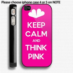 Victorias secret pink Iphone 4 Case also by easycustomart on Etsy, $16.99