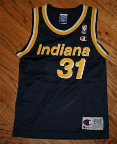 c3051f57eb8 Vintage REGGIE MILLER #31 INDIANA PACERS NBA CHAMPION JERSEY-Youth Small (6-