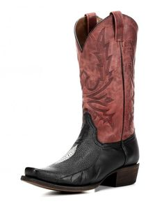 Mens Stingray Print Black Leather Cowboy Western Rodeo Riding Silver